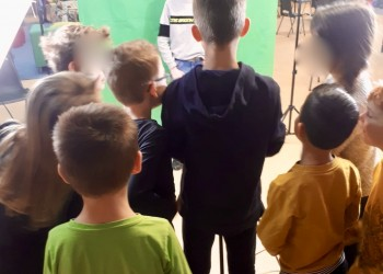 kinderen en green screen